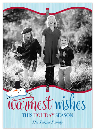 holiday photo cards - Warmest Wishes by hatched prints