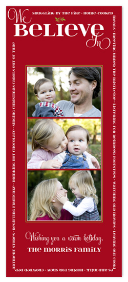 holiday photo cards - We Believe In... by hatched prints