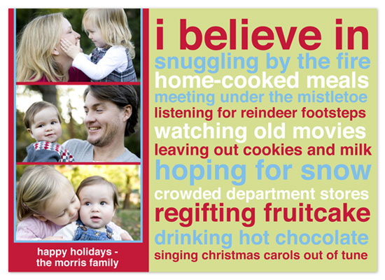 holiday photo cards - I Believe in Mod by hatched prints