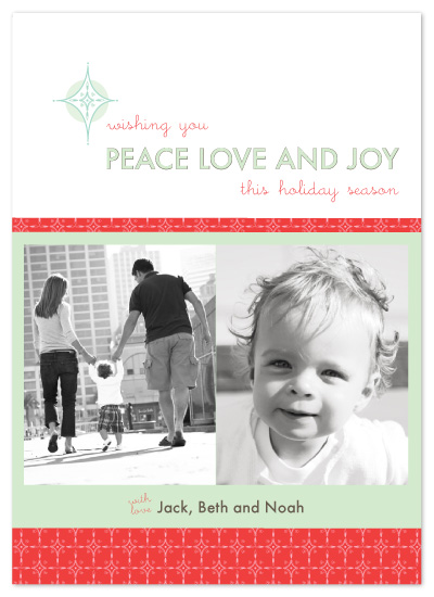 holiday photo cards - Peace Love Joy  by Mulberry & Marie