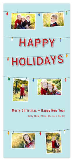 holiday photo cards - Holiday Lightbulb Photoline by someone loves dean
