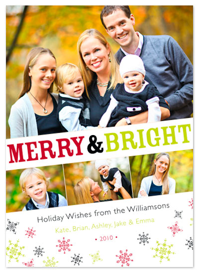 holiday photo cards - Merry&Bright 3 by Aimee
