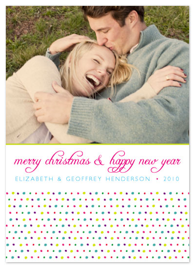 holiday photo cards - Happy Dots 1 by Aimee