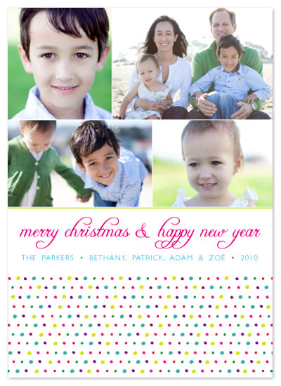 holiday photo cards - Happy Dots 2 by Aimee