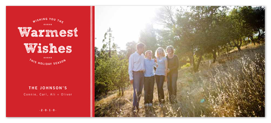 holiday photo cards - Scarlet Warm Wishes by someone loves dean