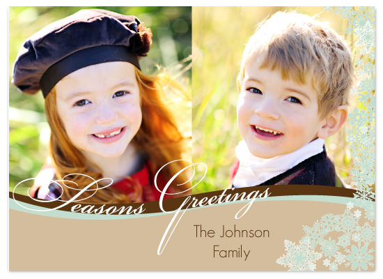 holiday photo cards - Rolling Wave Seasons Greetings by Sarah-fina