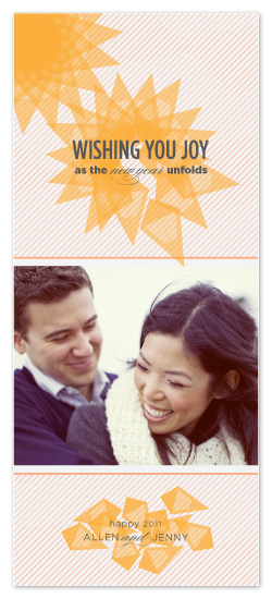 holiday photo cards - Joy Unfolds by Sarah Guse Brown