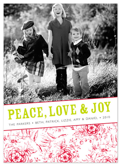 holiday photo cards - PeaceLoveJoy by Aimee