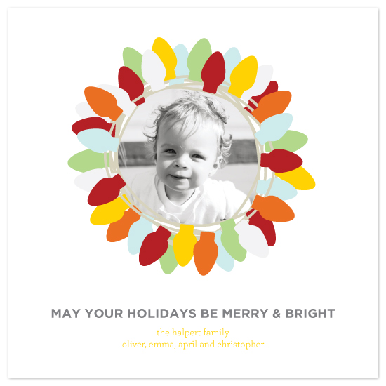 holiday photo cards - Bright Lights by Saddle Stitch Studio