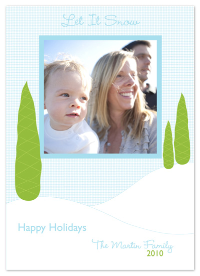 holiday photo cards - Fresh Snow by PS