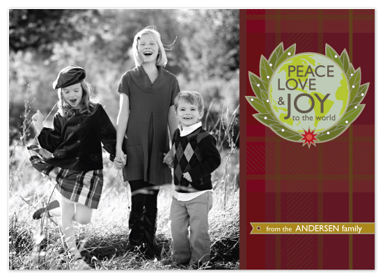 holiday photo cards - Flannel Wishes by Griffinbell Paper Co.