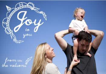 Joy to You Holiday Photo Card