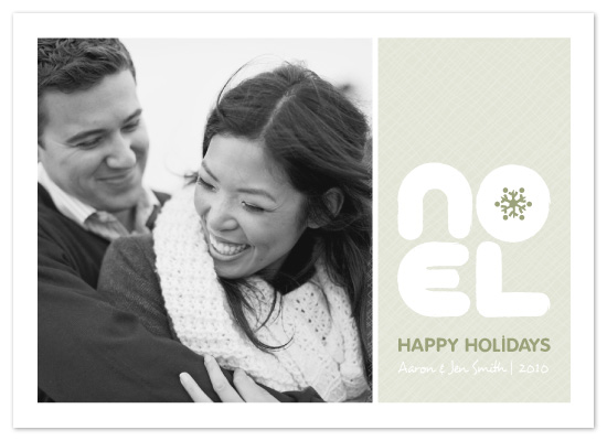 holiday photo cards - NOEL by Lindsay Braithwaite