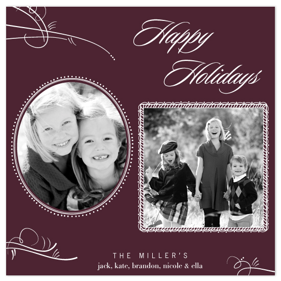 holiday photo cards - vintage frames by Dear Lola