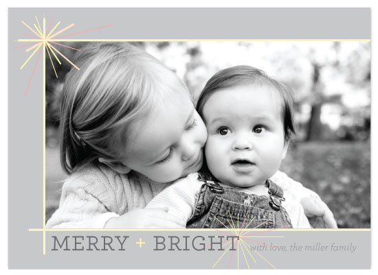 holiday photo cards - simple starburst by Lizzy McGinn