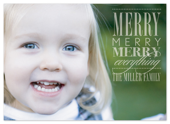 holiday photo cards - Merry Everything by Ten26 Design Custom Invitations
