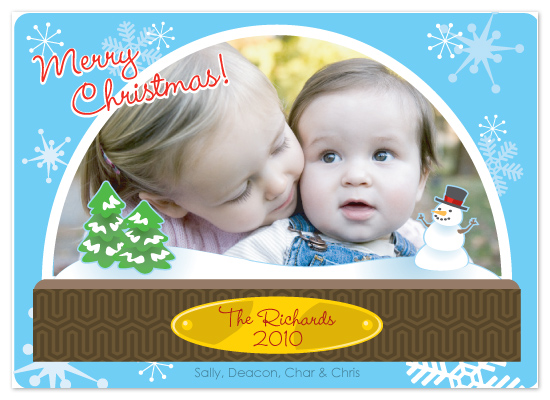holiday photo cards - Snowglobed Memories by CBeeProject