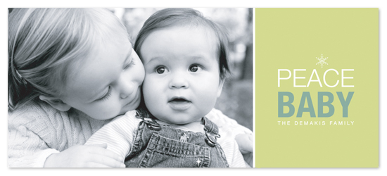 holiday photo cards - Peace Baby by Ten26 Design Custom Invitations