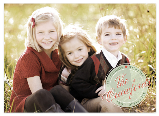 holiday photo cards - holiday heart by The Social Type