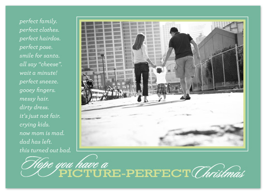holiday photo cards - just perfect by sara westbrook