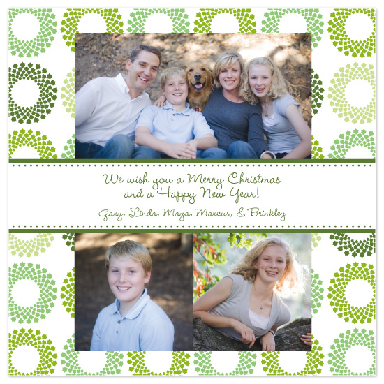 holiday photo cards - Christmas Wreath by Sashi & Miko