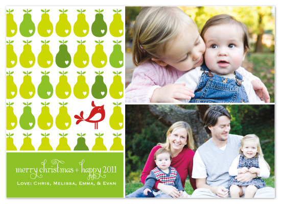 holiday photo cards - A Partridge and a Pear Tree by Sashi & Miko