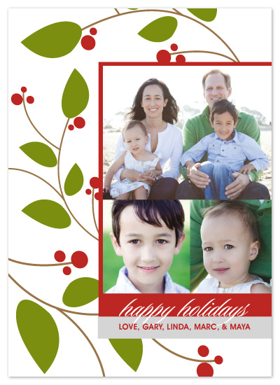 holiday photo cards - Holiday Berries by Sashi & Miko