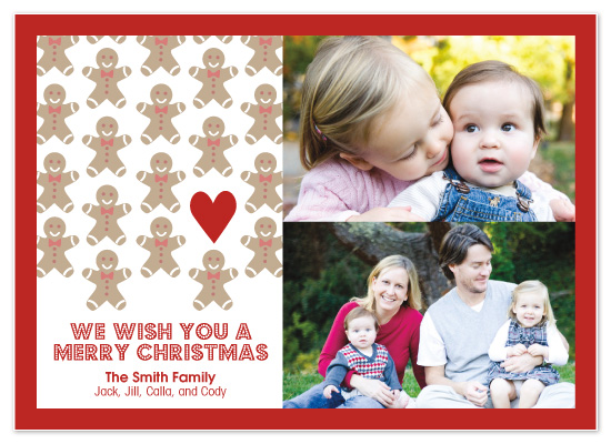 holiday photo cards - You Can't Catch Me, I'm the Gingerbread Man by Sashi & Miko