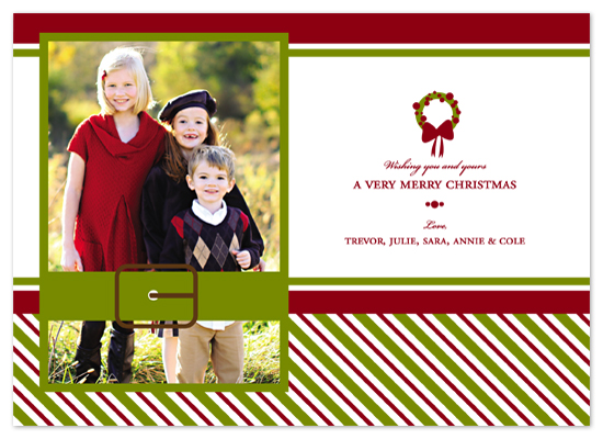 holiday photo cards - Striped Holiday by Bethany Anderson