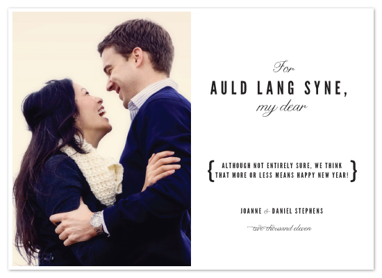 holiday photo cards - auld lang syne by Toast & Laurel