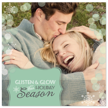 holiday photo cards - Glisten & Glow by BiancaDesigns