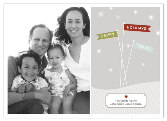 holiday photo cards - Holiday Flags by Blue J