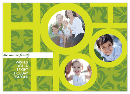 holiday photo cards - Ho Ho Ho and Holly design by Tanyia Johnson