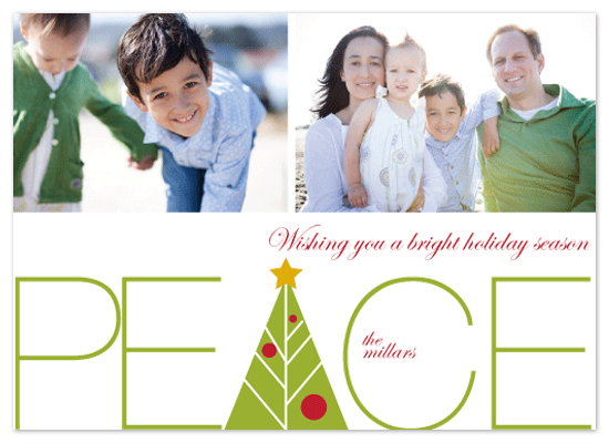 holiday photo cards - Peace by Tanyia Johnson