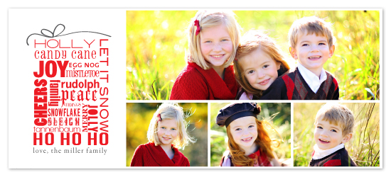 holiday photo cards - words of the season by R studio