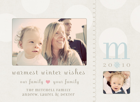 holiday photo cards - southern belle by heather manor