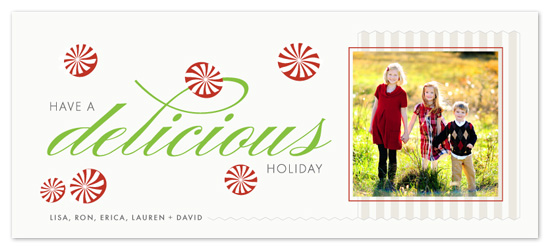 holiday photo cards - Peppermints Are Delicious by OrangeBeautiful