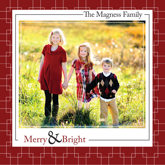 holiday photo cards - Merry & Bright by Rachel Carmichael