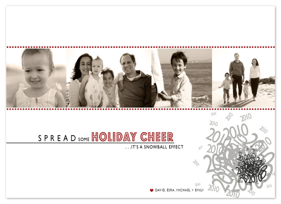 holiday photo cards - Snowball Effect by The Opened Envelope