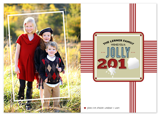holiday photo cards - Snow Time by The Opened Envelope