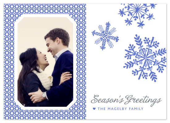 holiday photo cards - Dutch Snowflakes by j.bartyn