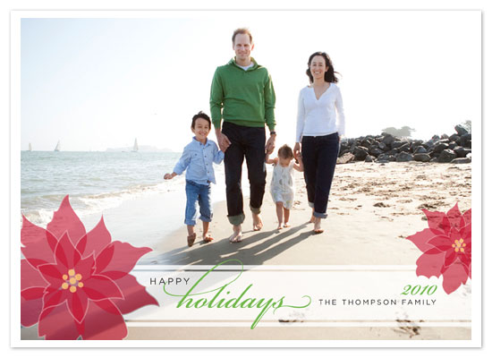 holiday photo cards - Poinsettia Overlay by Jill Means