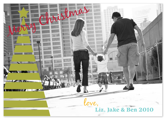 holiday photo cards - Peek-a-boo Christmas Tree by PS