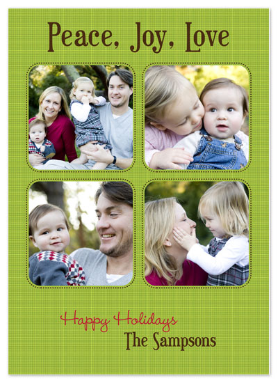 holiday photo cards - Green Linen by PS