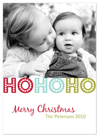 holiday photo cards - Ho Ho Holidays by PS