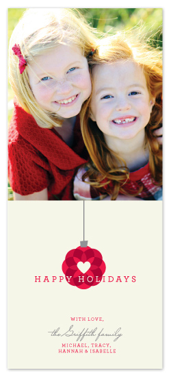 holiday photo cards - Love Ornament by Paper Dahlia