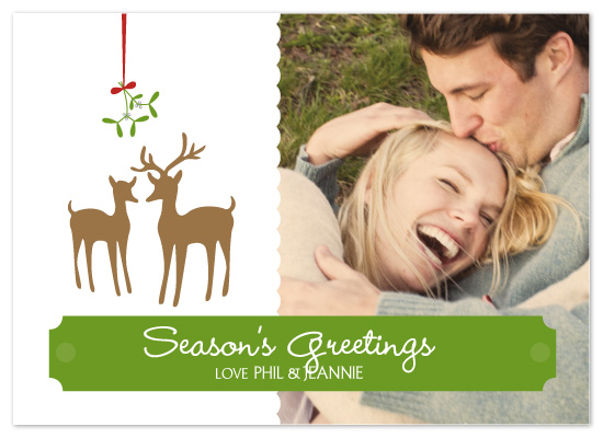 holiday photo cards - Merry Christmas, My Deer by Sashi & Miko