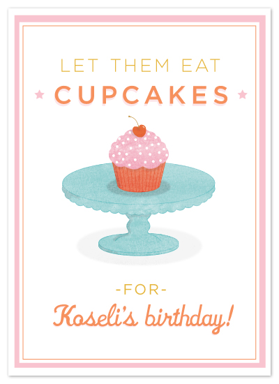 birthday cards - let them eat cupcakes by cambria