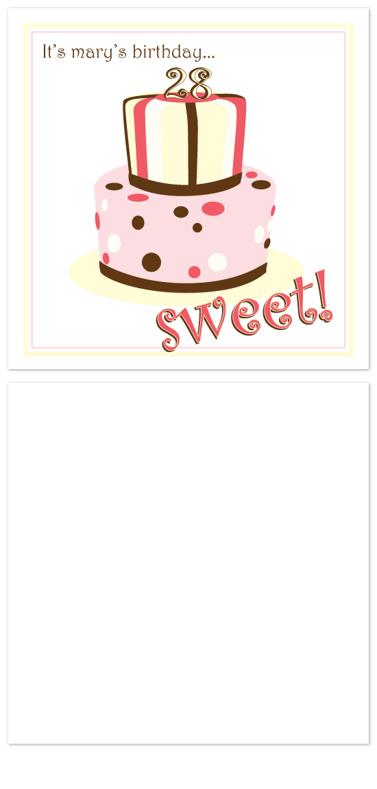 birthday cards - Sweet! by Laura Hancko