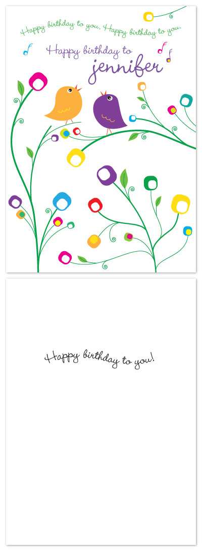 birthday cards - A Birdie Serenade by Laura Hancko